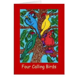 Vier nennende Vögel Karte