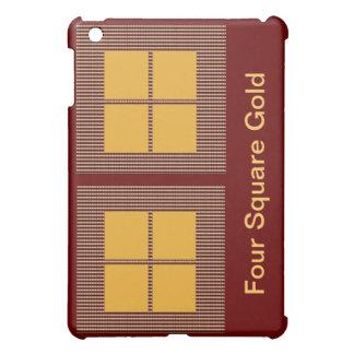 Vier Quadrat-Gold iPad Mini Hülle