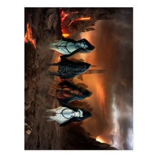 Vier Reiter der Apokalypse Postkarte