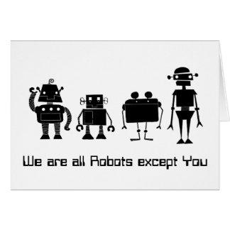 Vier Roboter Karte