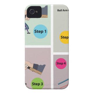 Vier Schritte, zum der spinnenden Stange mit iPhone 4 Case-Mate Hülle