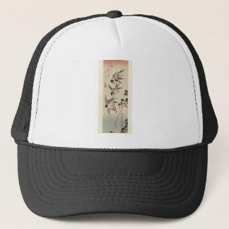 Vier Schwalben durch Hiroshige Truckerkappe