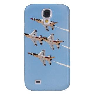 Vier Thunderbirds F-16 fliegen in nahe Bildung Galaxy S4 Hülle