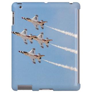 Vier Thunderbirds F-16 fliegen in nahe Bildung iPad Hülle