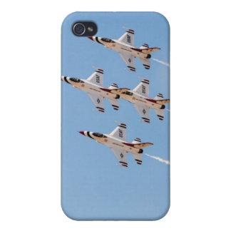 Vier Thunderbirds F-16 fliegen in nahe Bildung iPhone 4/4S Cover