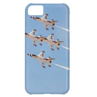 Vier Thunderbirds F-16 fliegen in nahe Bildung iPhone 5C Hülle