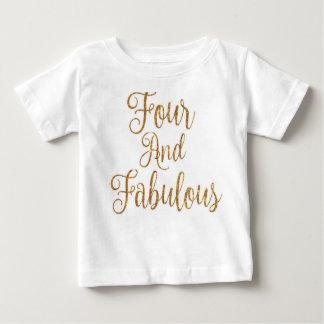 Vier und fabelhaftes baby t-shirt
