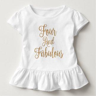 Vier und fabelhaftes kleinkind t-shirt