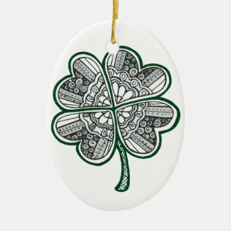Vier verlassen Klee 1 Keramik Ornament