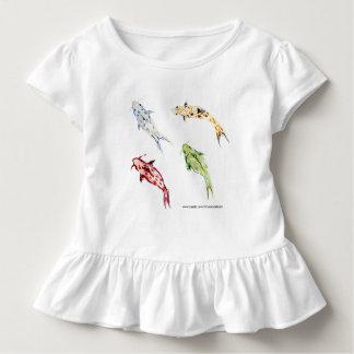 Vier wenig Koi - japanische Art-Aquarell Kleinkind T-shirt