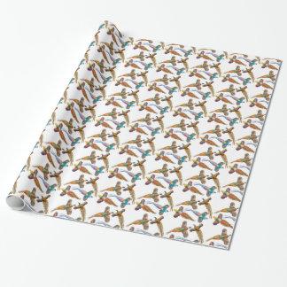 Vier wildes Fasan-Packpapier Geschenkpapier