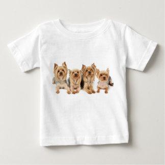 Vier yorkies baby t-shirt