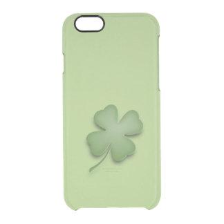 Vierblättriges Kleeblatt Durchsichtige iPhone 6/6S Hülle