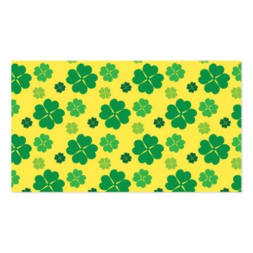 Vierblättriges Kleeblatt grünes GOLD Tag St. Visitenkarte
