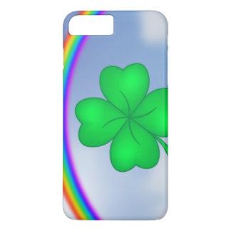 Vierblättriges Kleeblatt mit Regenbogen iPhone 8 Plus/7 Plus Hülle