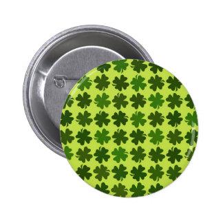 Vierblättriges Kleeblatt Muster Runder Button 5,7 Cm