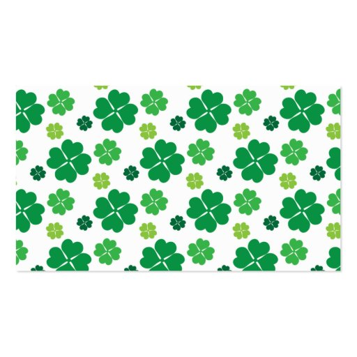 Vierblättriges Kleeblatt Tag St. Patricks Visitenkarten
