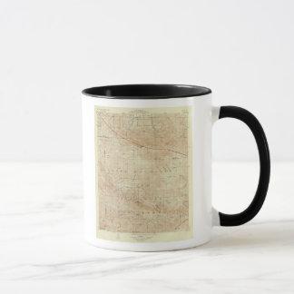 Viereck Mt Pinos, das San- Andreasriß zeigt Tasse