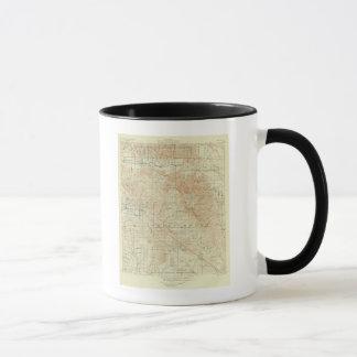 Viereck Sans Jacinto, das San- Andreasriß zeigt Tasse
