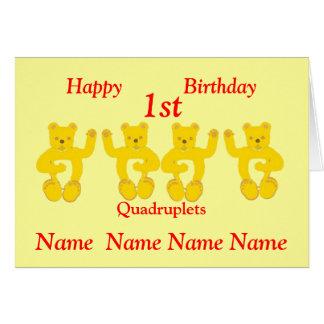 Vierergruppe-Geburtstags-Karte addieren Namen Karte