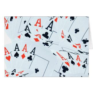 Viererkabel Aces Poker-Karten-Muster, Karte