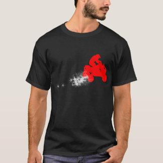 Viererkabel. einfach. rot T-Shirt
