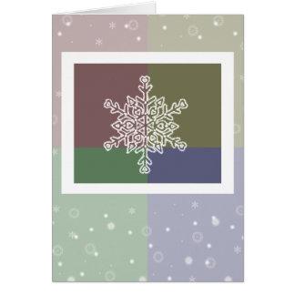 Viererkabel-Farbschneeflocke-Weihnachtskarte Karte