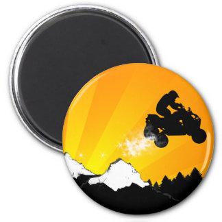 Viererkabel. orange Sonnenuntergang Runder Magnet 5,1 Cm