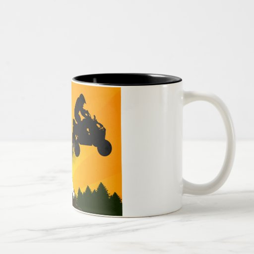 Viererkabel. orange Sonnenuntergang Teetassen