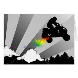 Viererkabel. Regenbogensonnenuntergang Karte