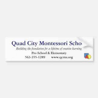 Viererkabel-Stadt Montessori SchulAutoaufkleber Autoaufkleber