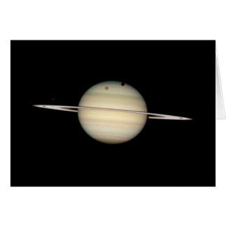 Vierfache Saturn-Mond-Durchfahrt Karte