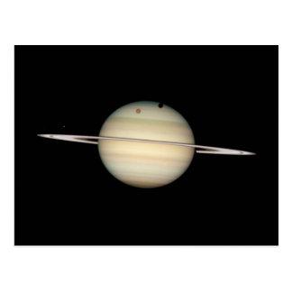 Vierfache Saturn-Mond-Durchfahrt Postkarte