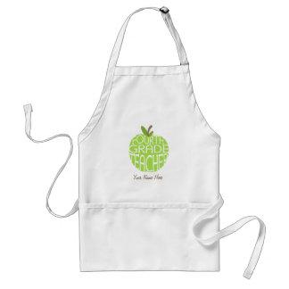 Vierte Grad-Lehrer-Schürze - grüner Apple