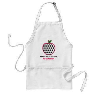 Vierte Grad-Lehrer-Schürze - Polka-Punkt Apple Schürze
