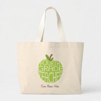 Vierte Grad-Lehrer-Tasche - grünes Apple