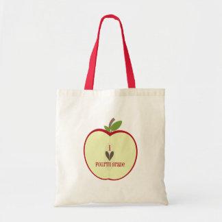 Vierte Grad-Lehrer-Tasche - rotes Apple halb