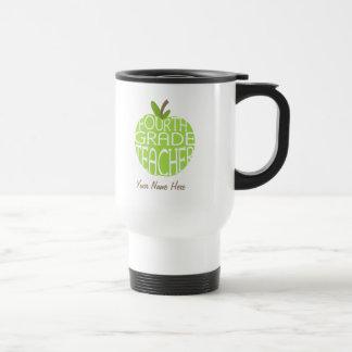 Vierte Grad-Lehrer-Tasse - grüner Apple Edelstahl Thermotasse