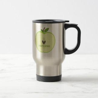 Vierte Grad-Lehrer-Tasse - grüner Apple halb Edelstahl Thermotasse
