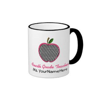 Vierte Grad-Lehrer-Tasse - Hahnentrittmuster Apple Ringer Tasse