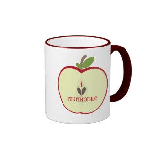 Vierte Grad-Lehrer-Tasse - roter Apple halb