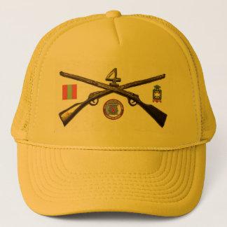 Vierte Infanterie-Regiment-Kreuz-Gewehre Truckerkappe