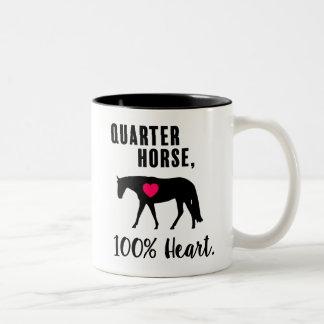 Viertelpferd, 100% Herz - Western-Vergnügen Zweifarbige Tasse