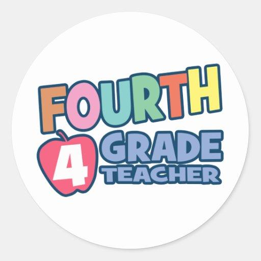 Vierter Grad-Lehrer Runder Sticker