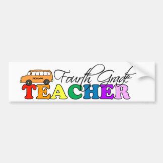 Vierter Grad-Lehrer Autoaufkleber