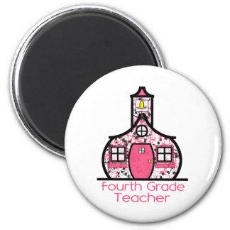 Vierter Grad-Lehrer-Farben-SpritzerSchoolhouse Magnets