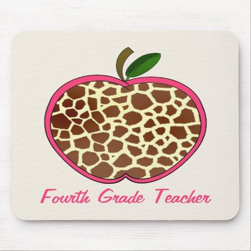 Vierter Grad-Lehrer-Giraffen-Druck Apple Mousepad