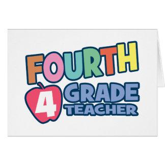 Vierter Grad-Lehrer Grußkarte