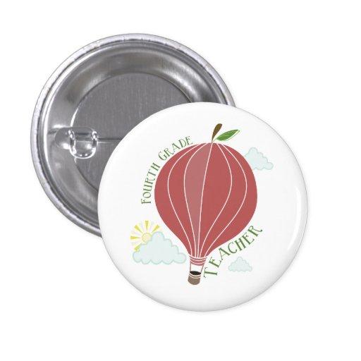 Vierter Grad-Lehrer-Heißluft-Ballon Apple Anstecknadel