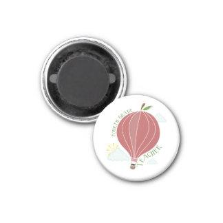 Vierter Grad-Lehrer-Heißluft-Ballon Apple Kühlschrankmagnet
